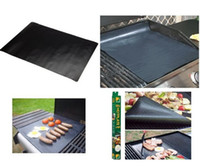 Wholesale 40 cm Heavy duty non stick BBQ grill liner grill mat PTFE BBQ Non Stick Grill Sheet hotplate liner