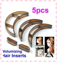 Wholesale 5 set Bumpits Big Happie Hair Volumizing Inserts Hair Pump Tool Gift