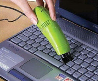Wholesale 200pcs Mini USB Vacuum Keyboard Cleaner Cleaning Brush for PC Laptop Computer With LED