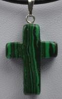 Wholesale malachite cross pendant bead X25MM