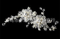 Wholesale Bride s Crystals Pearl Hair Accessories Crown Comb Tiara Best Sale Party Prom Pageant Wedding Bridal Accessories