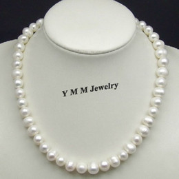 Personality White Pearl Necklace, 10mm Real Freshwater Pearl Necklace, Genuine Natural Pearl Jewelry