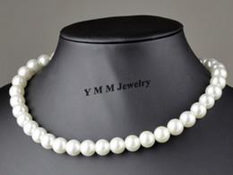 "17"" 10mm White Imitation Pearl Necklace 24pcs Imitation Pearl Choker For Women Free Shipping"