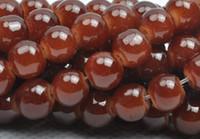 Wholesale dark brown MM Imitation jade round glass Loose Beads