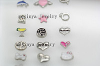 Wholesale 18 designs group floating charms for glass locket mother s day gift no locket included