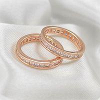 Wholesale Rose Gold Full Diamond Ring
