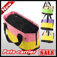 Wholesale Hot Dog three strips of canvas pets carriers Dog Carriers Totes multifunctional package dogs kennel mat pet bags Freeshipping