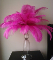 Wedding wedding centerpieces - inch cm Hot Pink Ostrich Feathers plumes fuchsia for wedding centerpieces decor party supplies decor