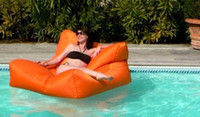 Wholesale extra wide seat bean bag floating chair summer beanbags high quality water pool side bean bag cover