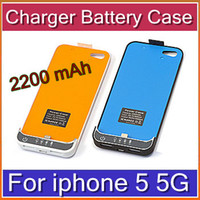 Wholesale HKpost mAh Rechargeable Charger External Backup Extended Case Battery For iphone G BC