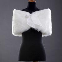 Wholesale Ivory Faux Fur Shrug Cape Stole Wrap Shawl Wedding Bridal Brides Warm Tippet New Sample
