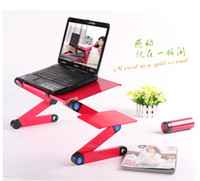 Aluminum Yes No Free shipping, New laptop notebook Folding table with mouse rack, folding laptop desk, 2 colors,
