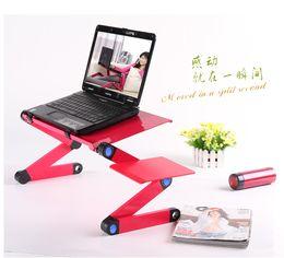 Wholesale New laptop notebook Folding table with mouse rack folding laptop desk colors