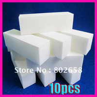 Wholesale Pieces White Nail Buffer Block Acrylic Nail Art Care Tips Sanding Files Tool Wholes