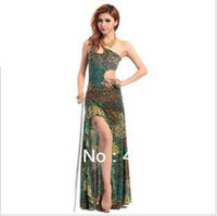 Belly Dancing belly dancing cloths - 2013 High Quality belly dance set costume placketing one piece dress peacock coverall cloth