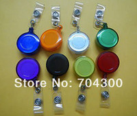 Wholesale Retractable Ski Pass ID Card Badge Holder Key Chain Reels