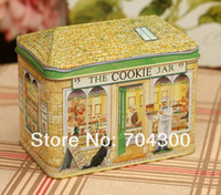 Eco Friendly tin box - Chocolate tin box Cookie Jar biscuit box Bakery pattern case candy tin box food tin