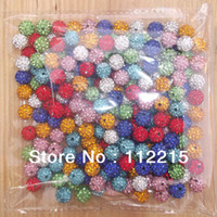 Wholesale Freeshipping mm Mix Color PC Cz Crystal Disco Ball Shamballa Beads fit Gift V0200