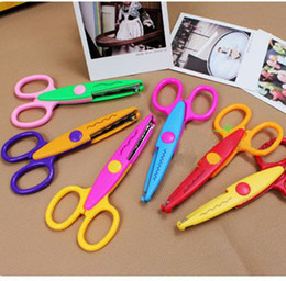 Wholesale design option Decorative Wave lace Edge Craft school Scissors DIY for Scrapbook Handmade Artwork Card