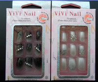 Wholesale 24pcs Glue On Nail Kit Artificial Nails