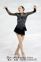 Wholesale hot sales Figure Skating Dress Beautiful New Brand vogue Ice skating Dress Competition customize A260
