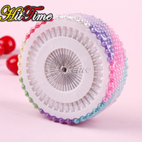 Wholesale 480Pcs Dressmaking Straight Pins Round Head Color Faux Pearl Corsage Sewing Pin