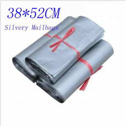 Wholesale 38 CM Self seal Slivery Mailbag Plastic Envelope Courier Postal Mailing Bags T9018