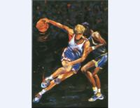 Wholesale Digital Printing Painting Impression Playing Basketball Man Popular Home Decoration Wall Art Print Paintings Popular Impression Prints