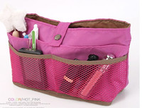Wholesale Fashion New Lady Inside Outside Dual Insert bag Makeup Cosmetic Purse Organizer Bag