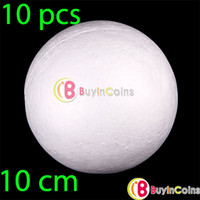 Wholesale 10 x CM Modelling Polystyrene Styrofoam Foam Ball Sphere XMAS Decoration Craft