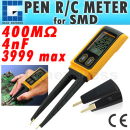 Wholesale GVA Handheld Tweezers Digital Resistance Capacitance Diode Test Multimeter Meter R C SMD max reading Relative Measurement