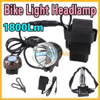 Wholesale 2In1 Lm CREE T6 LED Mode Bike Bicycle Light Headlamp Head Torch v mAh Battery Pack Rubber ring Charger Elastic Rubber Band