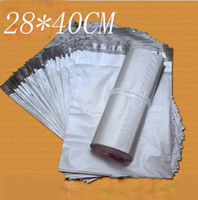 Poly   28*40CM Silvery Courier Bags Self-seal Mailbag Plastic Envelope Courier Postal Mailing Bags Waterproof Bags T9013