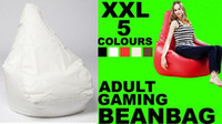 big beanbag chairs - EXTRA BIG white adults gaming beanbag pod large bean bags chair