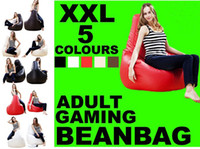 fabric sofa - XXL Colors adults game bean bags lazy beanbag seat red brown black white cream are in stock