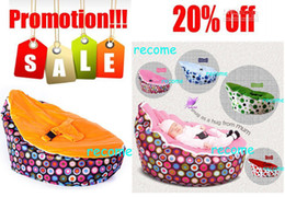Wholesale sprinkles cream snuggle pod baby seat new born kids portable bean bag chair