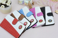 For Samsung Plastic Black DHL Fashion Wallet Leather Case Cover With Credit Card Holder For iphone 4 4S   5 5S   5C