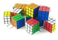 plastic cube - Plastic Colorful x3 Square Mini Magic Rubik S Cube KEY Chain Holder Ring Gift