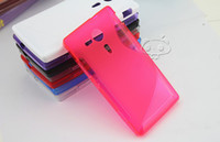 For Sony Ericsson sony xperia sp - S LINE TPU Silicone Gel CASE COVER Protector For Sony Xperia SP M35h