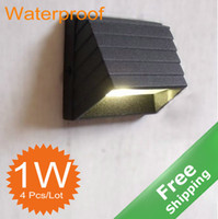 Wholesale New Waterproof outdoor LED Wall light W Aluminum Alloy finished Warm white LED AC85 V
