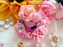 Wholesale New Collection shining ladies style pearl diamond Eyes contacts lense cases in pink