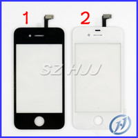 Wholesale For iPhone S Full Front Panel Glass Digitizer Touch Screen Black White Replacement Part