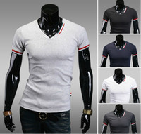 v neck tee shirts - checp new Men s T shirts v neck short sleeve mens t shirt colours M L XL XXL