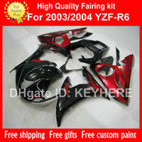For Yamaha aftermarket yamaha parts - Custom race fairing kit for YZF R6 YZFR6 YZF R6 fairings G7c popular red black aftermarket motorcycle parts bodywork