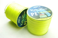 Wholesale M YELLOW PE BRAID FISHING LINE LURE LB LB LB LB LB