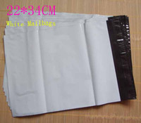 Wholesale 22 CM White Self seal Mailbag Plastic Envelope Courier Postal Mailing Bags T9032