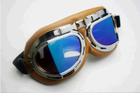 Wholesale Lots30 Aviator Pilot Cruiser Motorcycle Scooter ATV Goggle Eyewear T08Y Clear Lens DHL