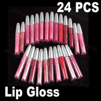 Wholesale 24PCS Pack New High Quality Sweet Colors Lip Gloss Makeup Tools Lipstick Cosmetic Makeup HB905