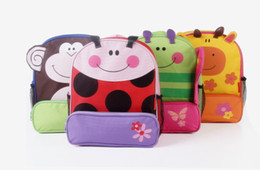 Wholesale 4pcs Children School Bags Kids Animal Pattern Satchels Export Quality Student Backpacks Cartoon book bags