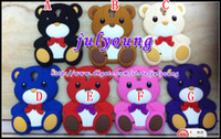 Wholesale 3D winnie the pooh teddy bear Soft silicone cartoon cute case for Samsung I9500 Galaxy S4 S animal lovely gel rubber cases skin